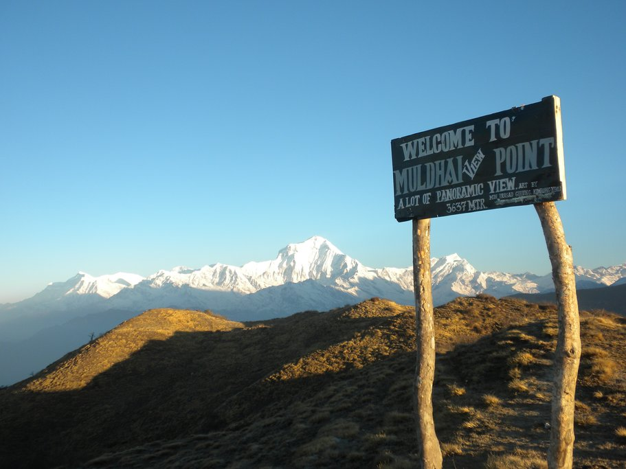 The view awaiting you at Muldai Peak