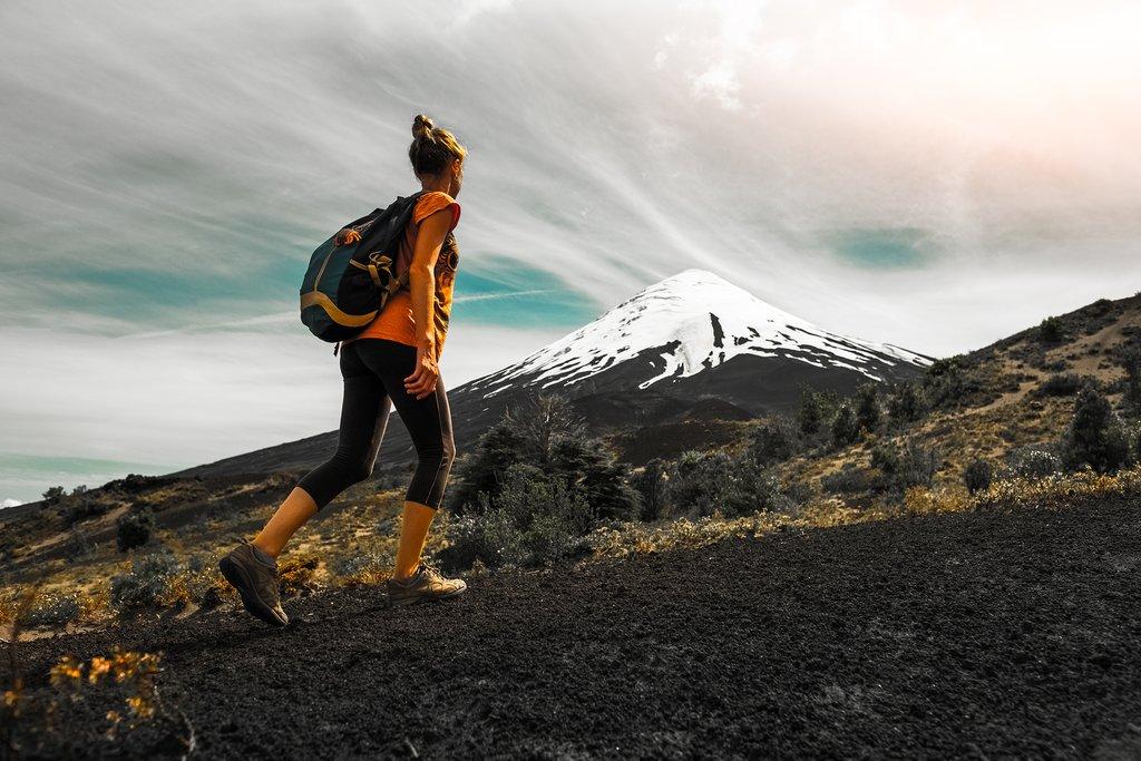 Hiking up to Osorno