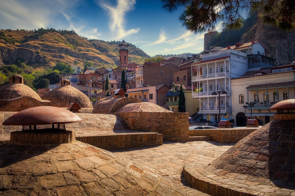 Ancient thermal spas in Old Town Tbilisi