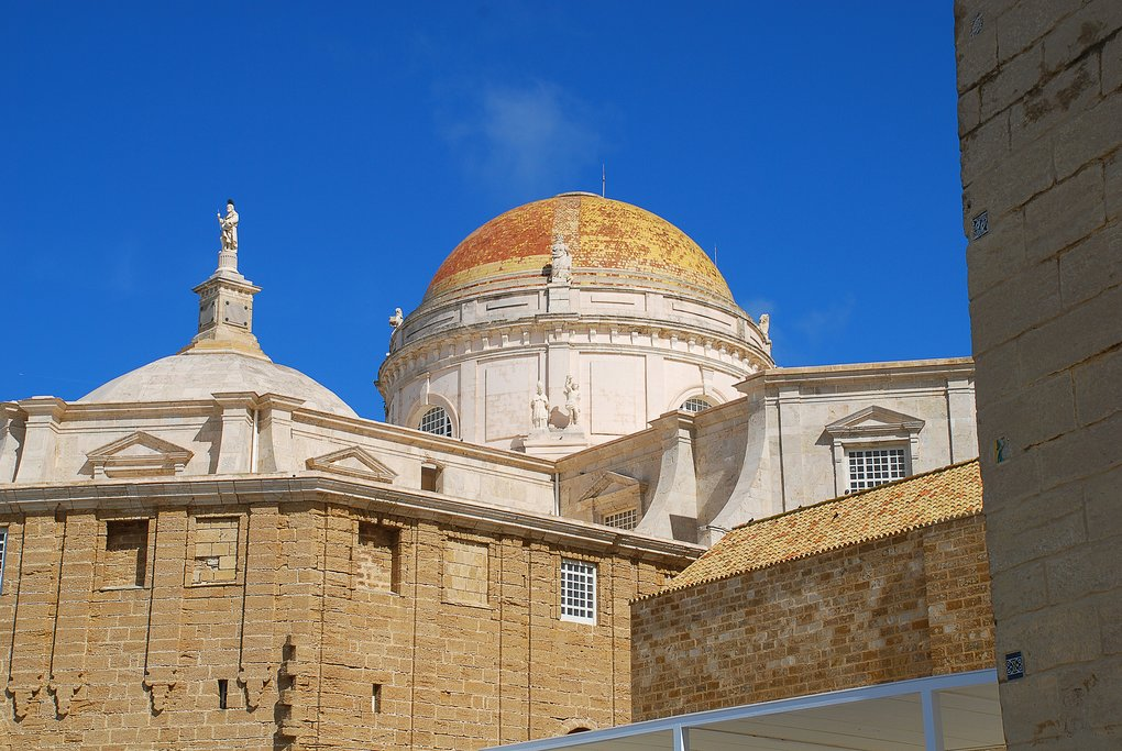 Dome of the Cadiz Cathedral in Spain