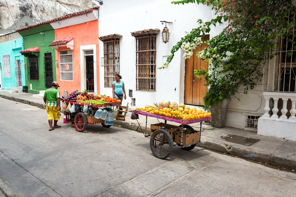 Fruit vendors in Cartagena