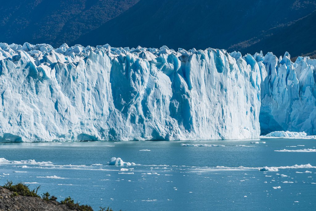 The massive ice walls of Perito Moreno