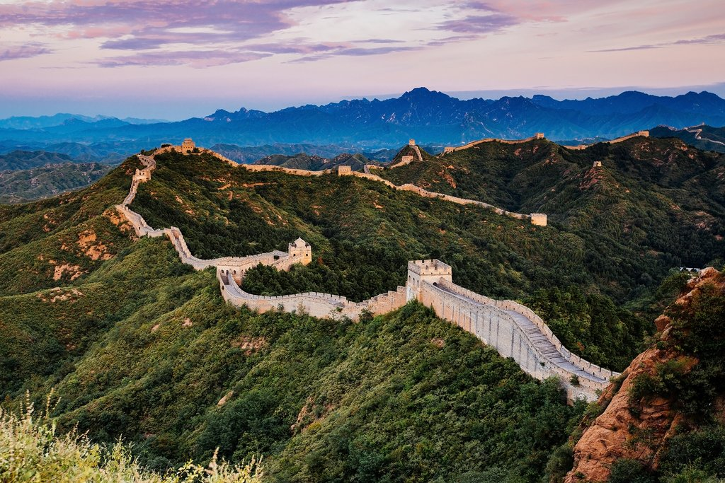 Sunrise over the Jinshanling section of the Great Wall