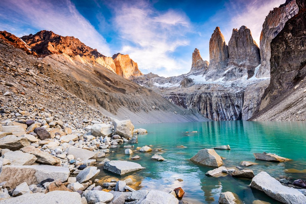 The imposing peaks of Las Torres