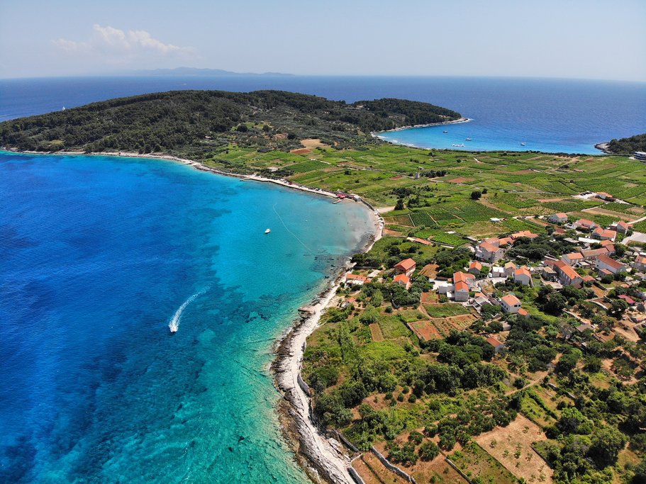 Croatia - The vine covered landscape around Lumbarda on Korčula's southeasterly tip