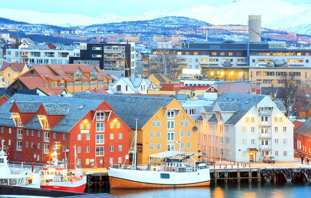 Tromsø's colorful waterfront
