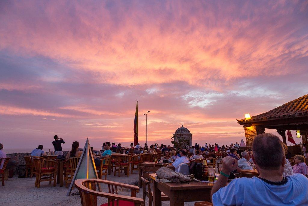 Sunset in Cartagena