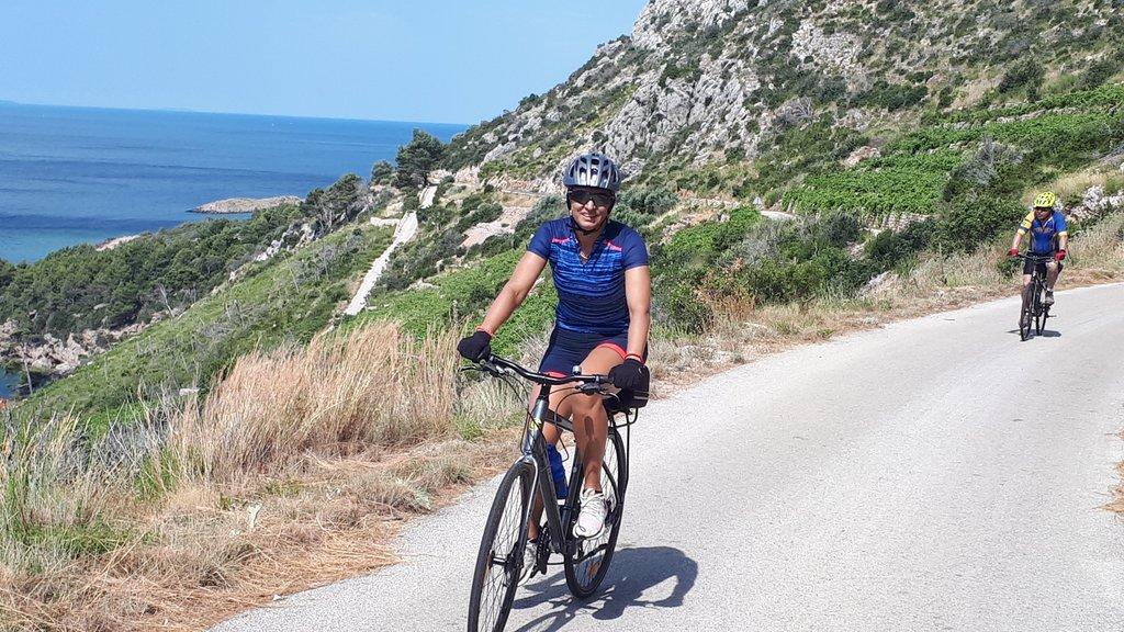Ride along the water's edge of the Pelješac peninsula