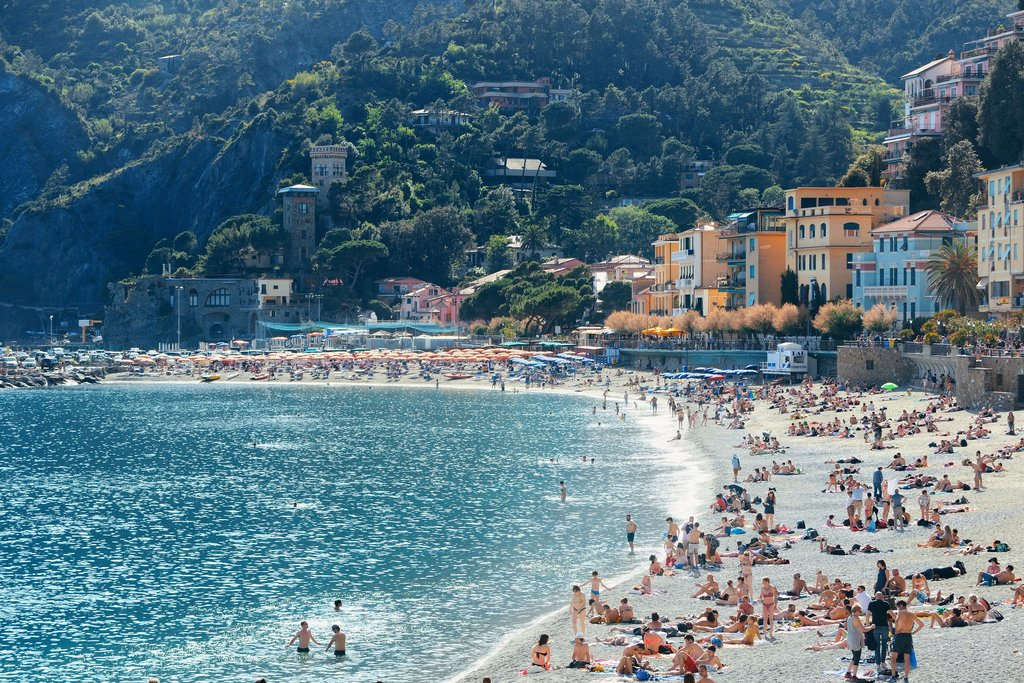 Monterosso's picture-perfect beach.