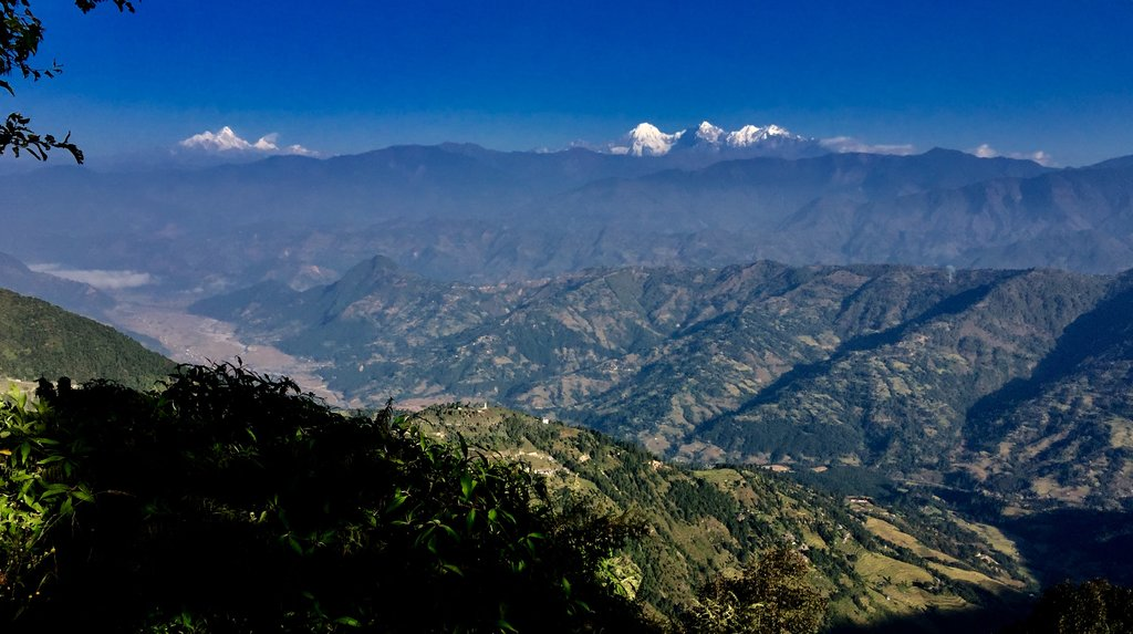 Trisuli Valley and the Langtang range