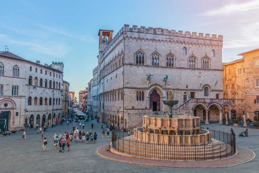 Piazza IV Novembre, Perugia's scenic main square.