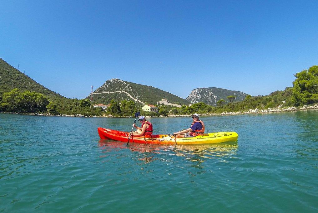 Kayak in Ston Bay