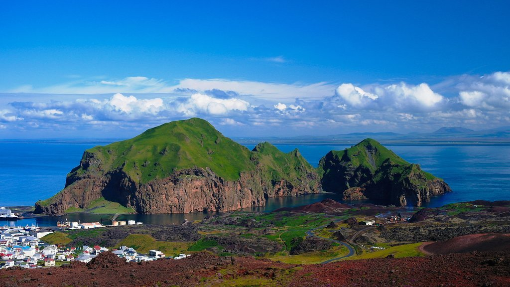 A view of Heimaey in the Westman Islands