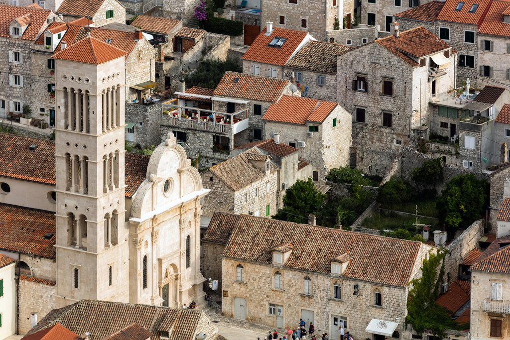Croatia, Hvar Island, Hvar Town, Cathedral of Saint Stephen
