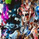 Traditional Venetian carnival masks