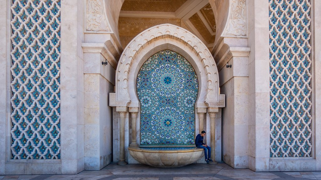 Close up of the Hassan II Mosque, Casablanca, Morocco