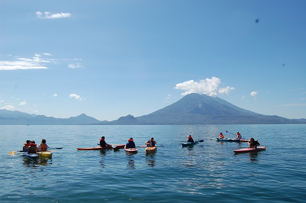 Kayaking on Lake Atitlán
