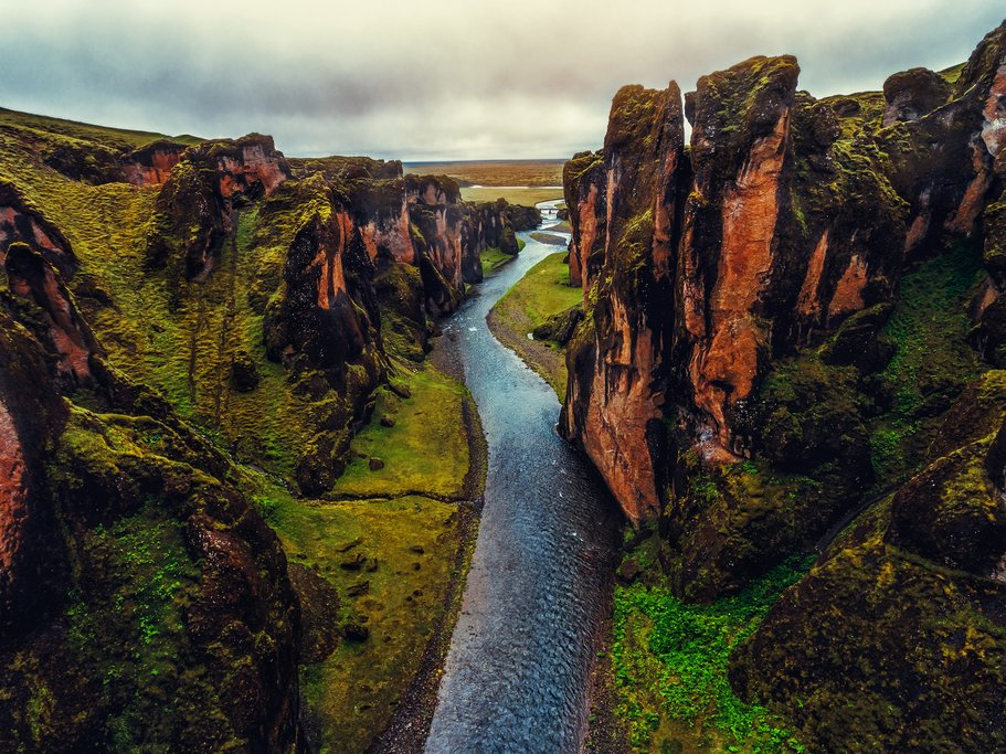 Fjadrárgljúfur Canyon near Kirkjubæjarklaustur, Iceland