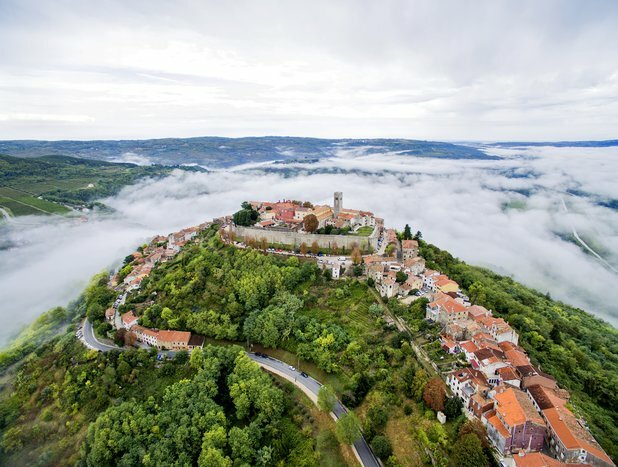 The hilltop villages of Istria