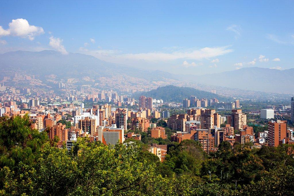 Medellín's mountainous skyline.