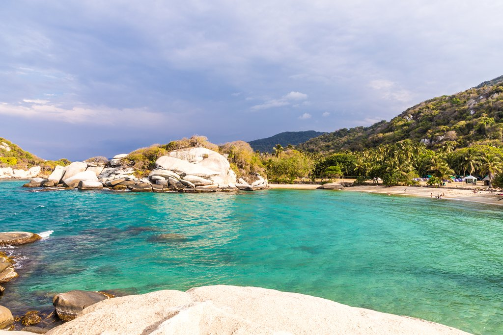 Quintessential scenery of Tayrona National Park