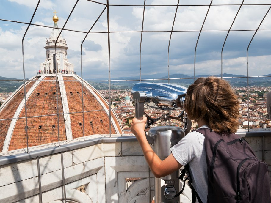 View of the Florence Duomo from Giotto's Bell Tower
