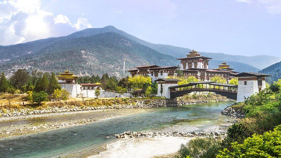 The Punakha Dzong Monastery