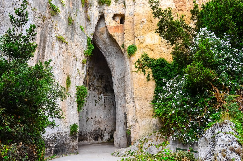 Entrance to the Ear of Dionysius, Sicily