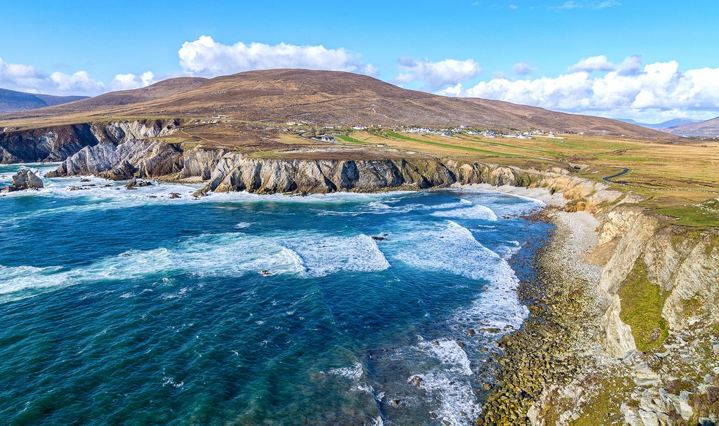 The rolling waves of the Atlantic off Achill Island