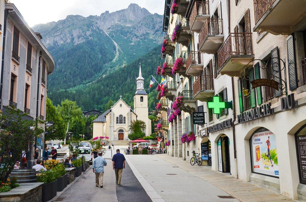 The Alpine village of Chamonix