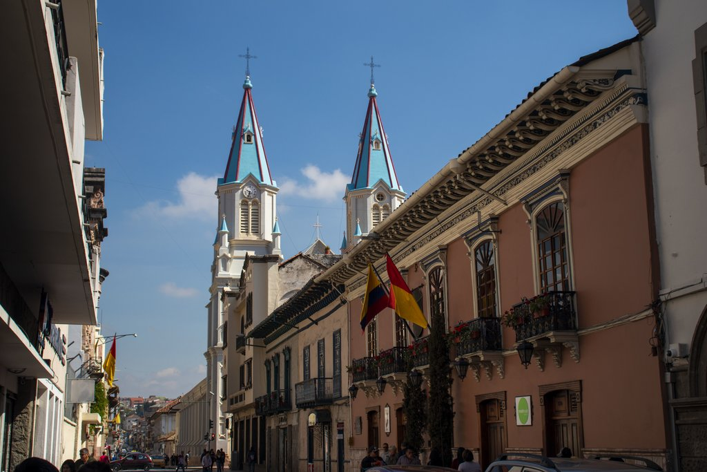View of historical Cuenca