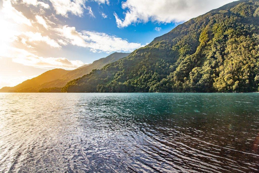 Chilean landscape Ensenada, lake Todos los Santos, National Park