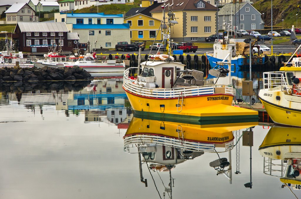 Catch the ferry in Stykkishólmur's charming harbor