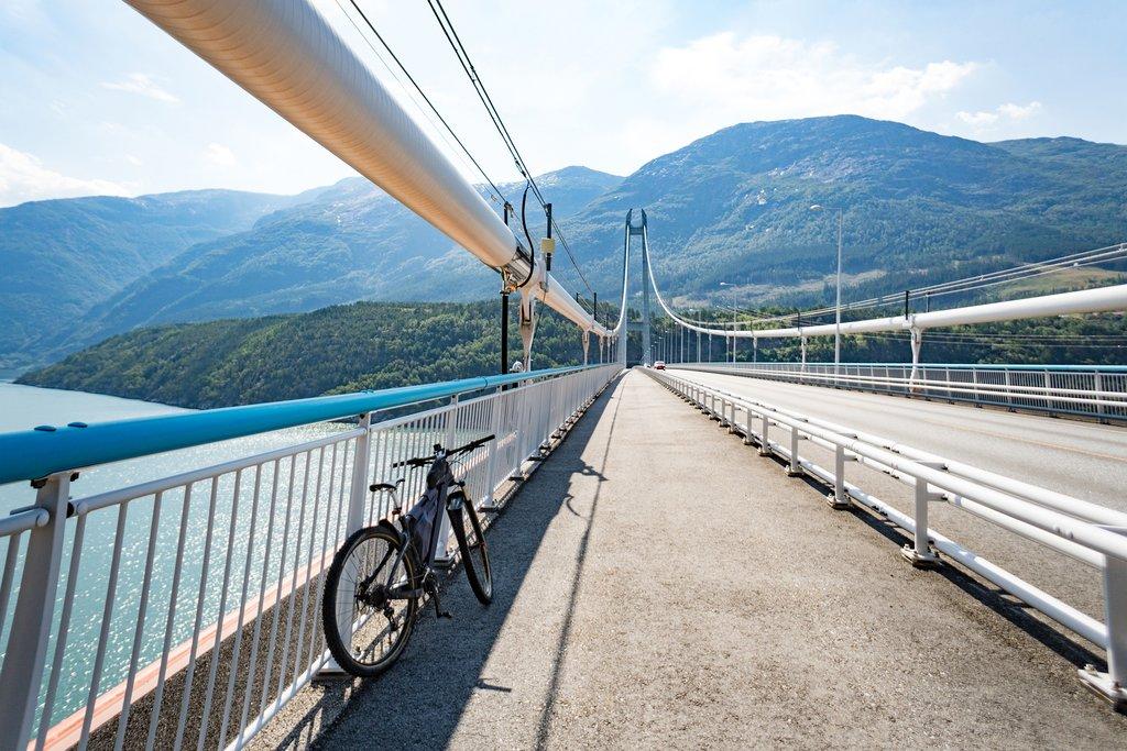 Mountain biking in the Hardangerfjord