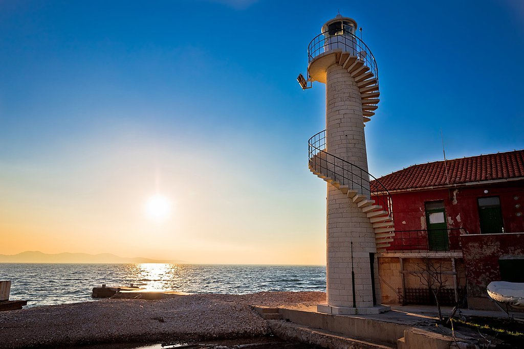Oštri Rat Lighthouse in Zadar