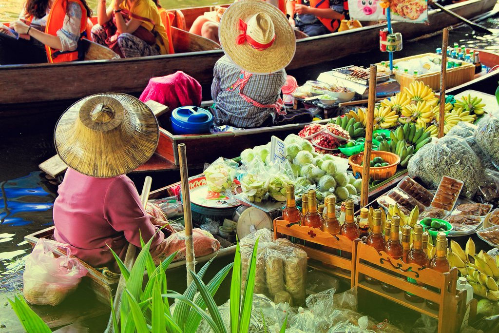 Bangkok's famed floating market