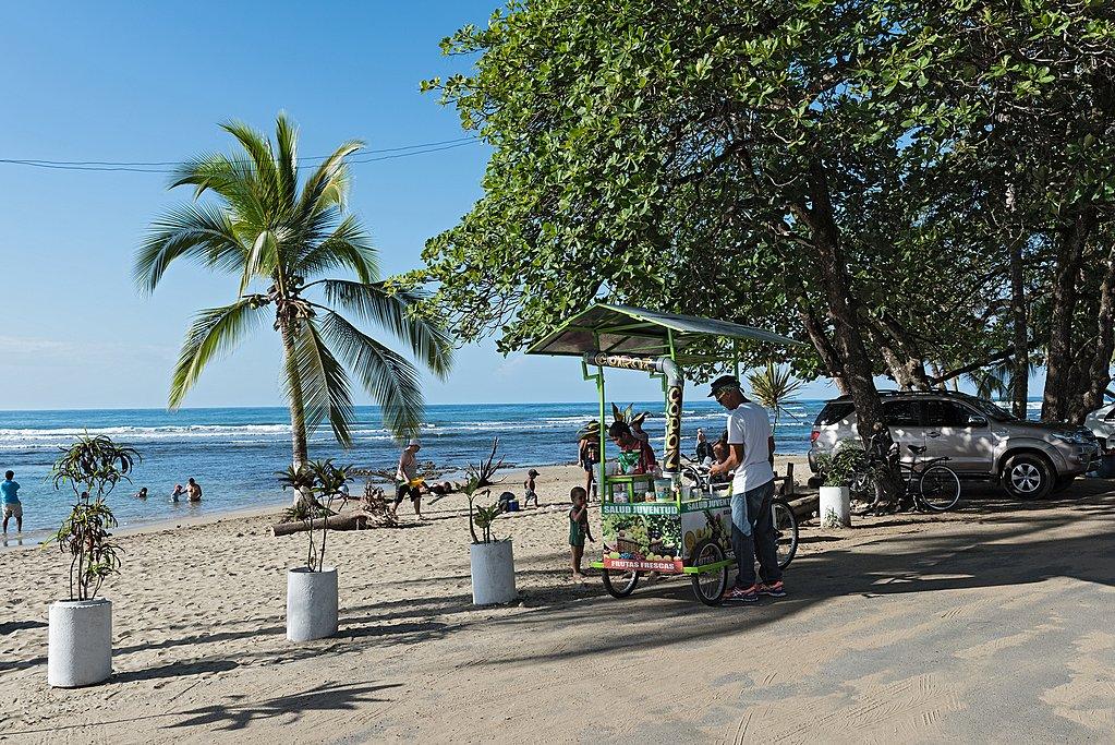Vendor on the beach, Puerto Viejo