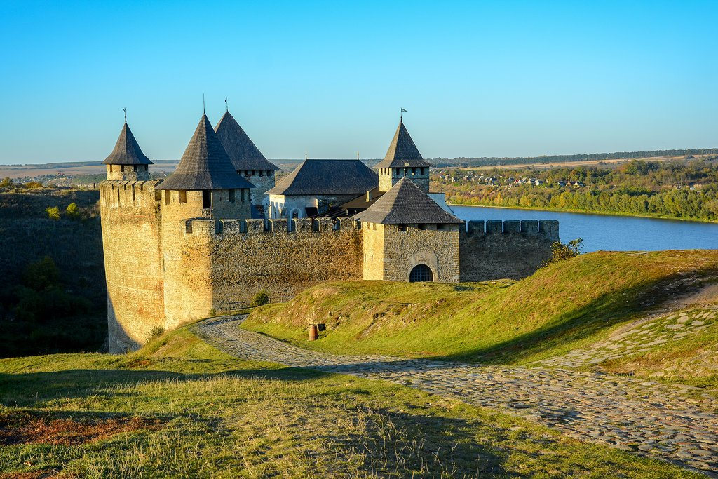 Khotyn fortress sits pretty on the banks of the Dnister River - Ukraine