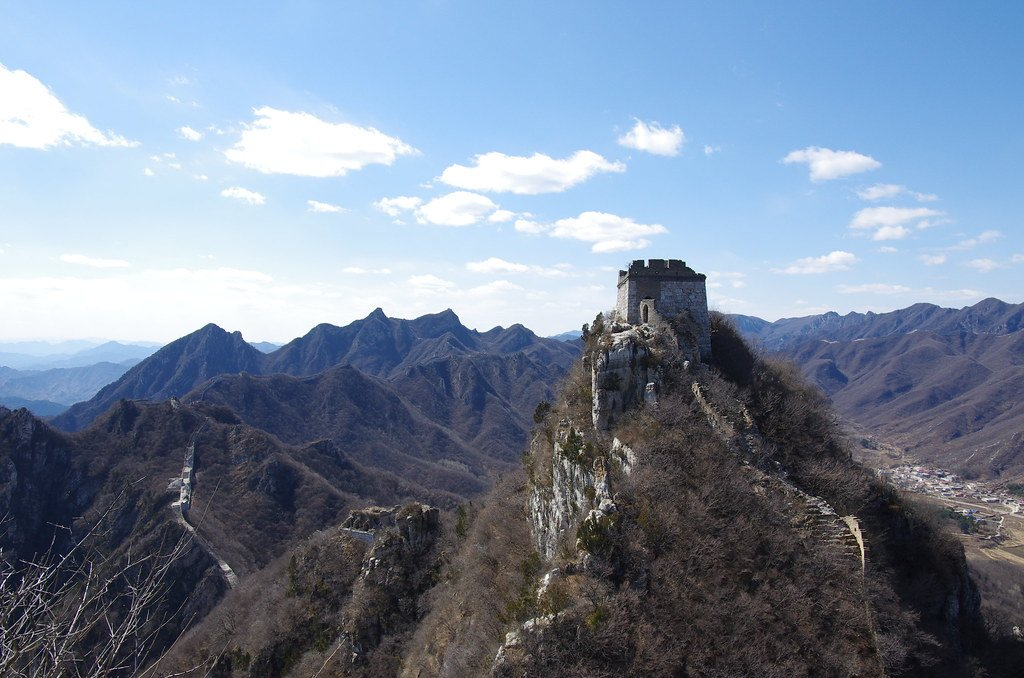 The Jiankou section of the Great  Wall