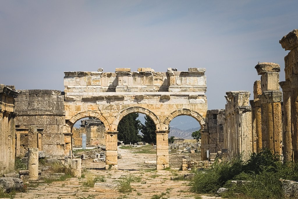 Ruins in the ancient city of Hierapolis