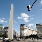 The Obelisco, in downtown Buenos Aires