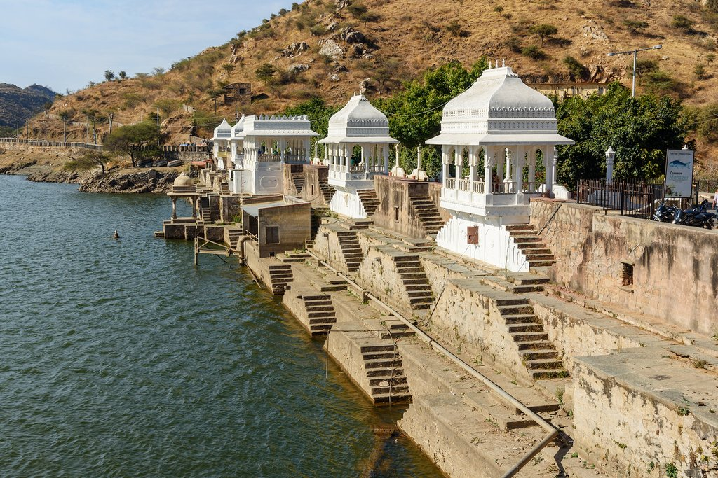 Ghats along the shores of Pichola Lake, Udaipur