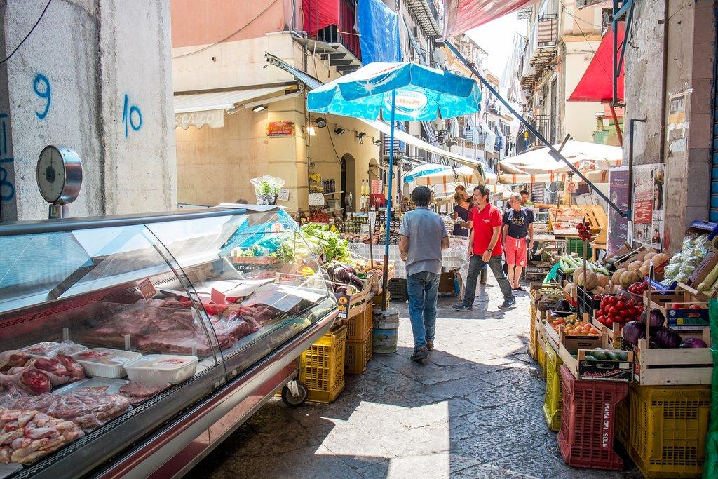 Italy - Sicily - Butcher shop at Mercato il Capo