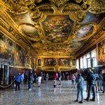 Interior of Doge's Palace, Venice, Italy