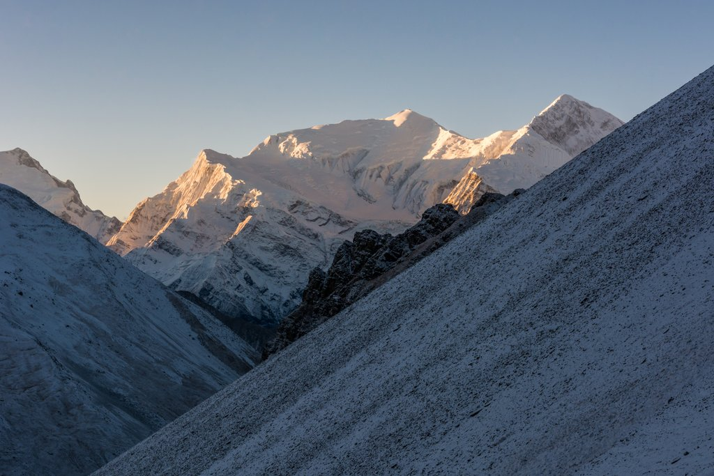 Dawn on the Himalaya near Manang