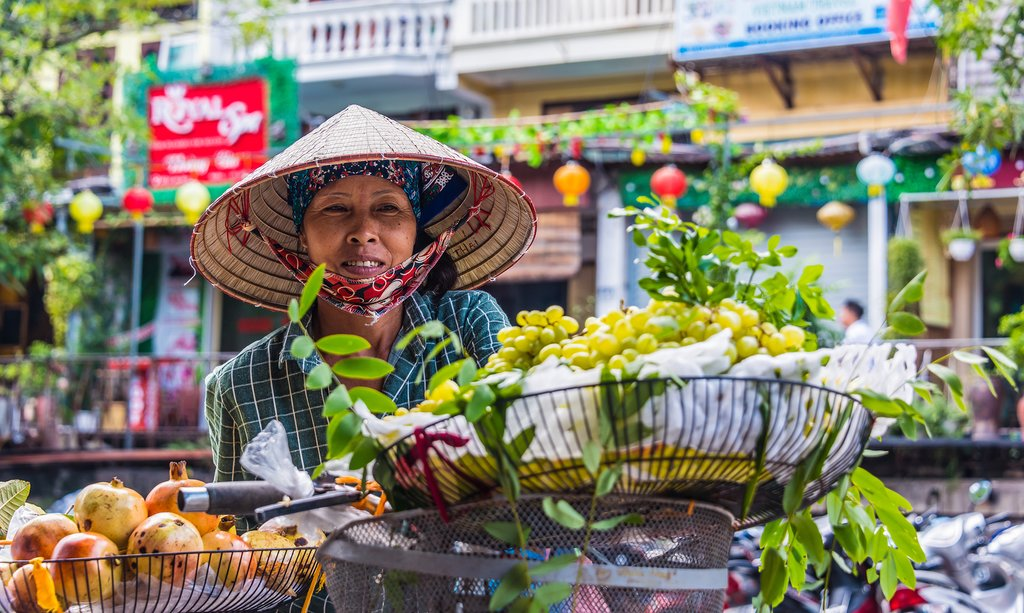 A street vendor in Hanoi