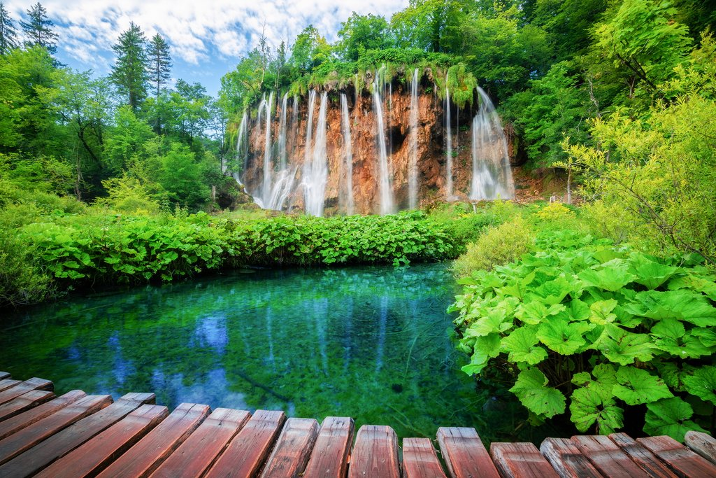 Plitvice Lakes National Park at dawn