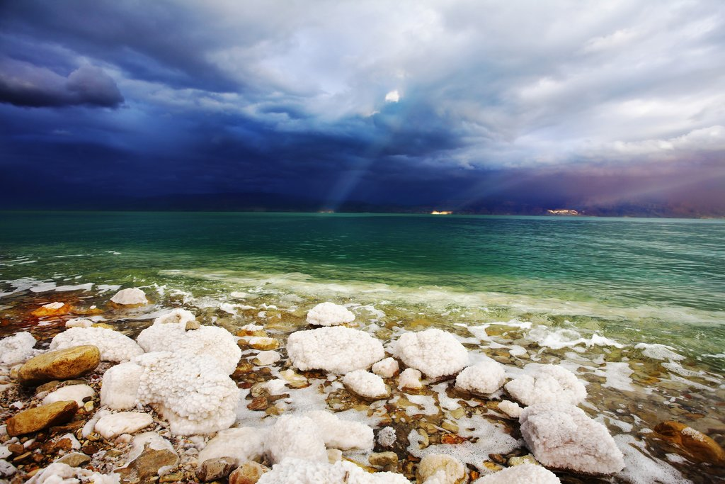 Thunderstorm over the Dead Sea