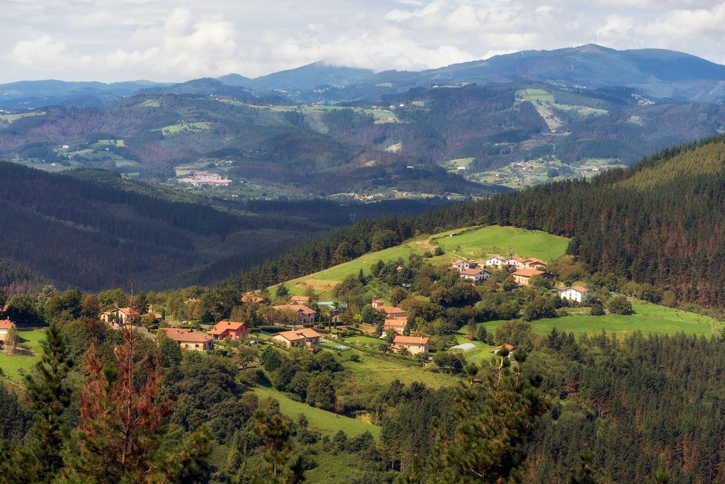 A village in the Basque countryside