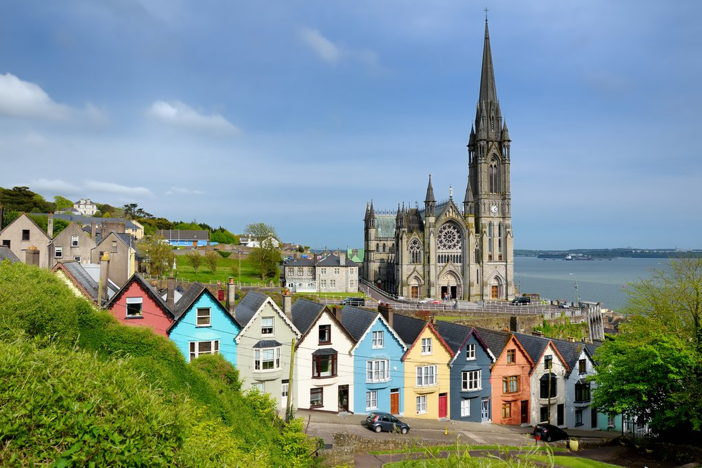 Row Houses and Saint Colman's Cathedral, Cobh